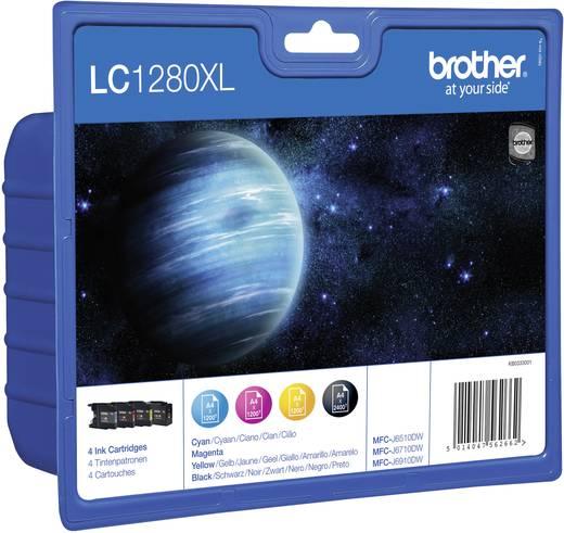 Brother Tinte LC-1280XL Original Kombi-Pack Schwarz, Cyan, Magenta, Gelb LC1280XLVALBPDR