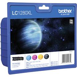 Inkoustová kazeta Brother LC-1280XL originál černá, azurová, purppurová, žlutá LC1280XLVALBPDR