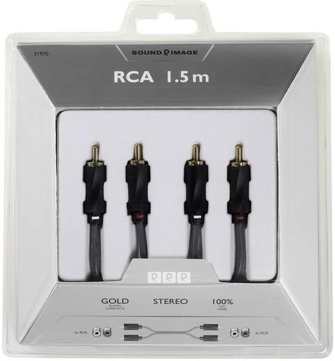 Cinch Audio Anschlusskabel [2x Cinch-Stecker - 2x Cinch-Stecker] 1.50 m Schwarz vergoldete Steckkontakte Sound & Image
