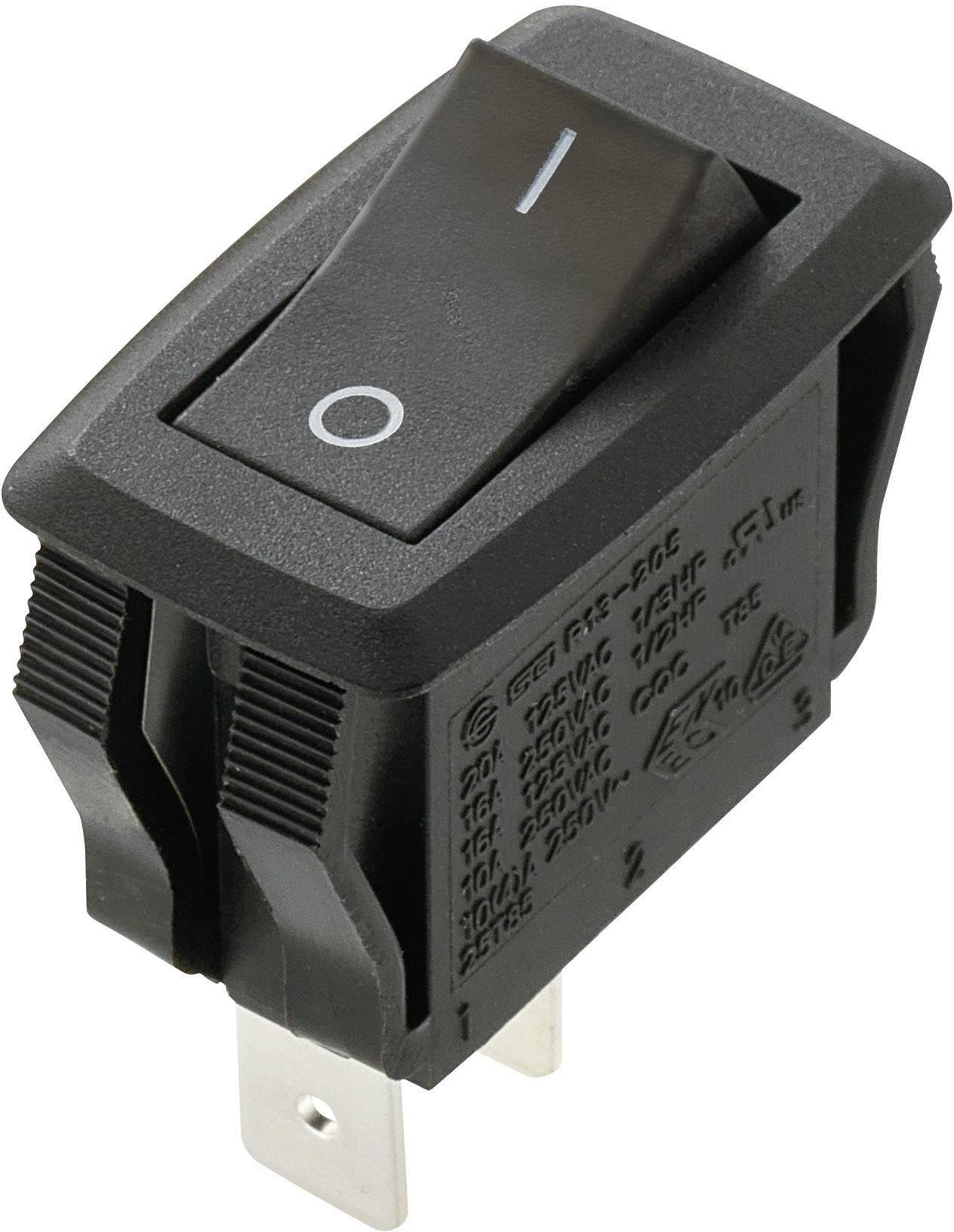 Arcolectric H8353ABNAB Druckschalter 230 V//AC 16 A 2 x Aus//Ein  rastend 1 St.