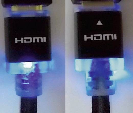 HDMI Anschlusskabel mit LED [1x HDMI-Stecker - 1x HDMI-Stecker] 2 m Schwarz SpeaKa Professional
