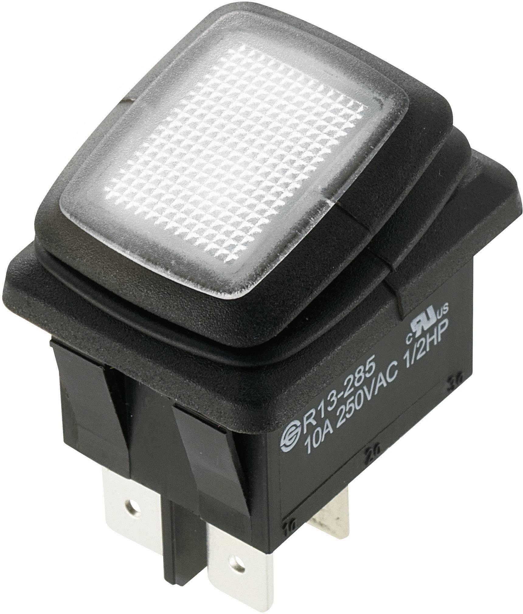 SCI Wippschalter R13-205A2-01 250 V//AC 16 A 1 x Aus//Ein rastend 1 St.