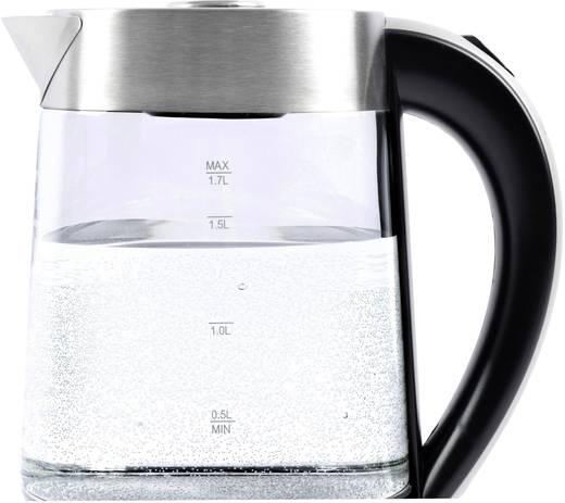 Wasserkocher schnurlos Clatronic WK3501G Glas, Edelstahl