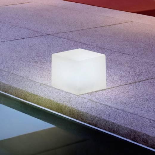 Außen-Dekobeleuchtung Würfel LED LED fest eingebaut Stellar 1117 Weiß