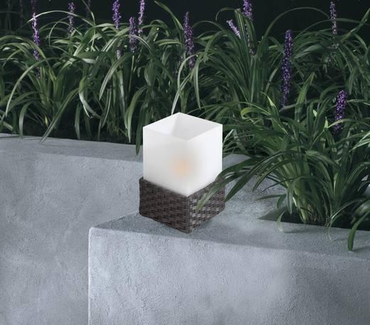 Solar-Tischlampe Warm-Weiß Rattan 1108 Anthrazit, Weiß