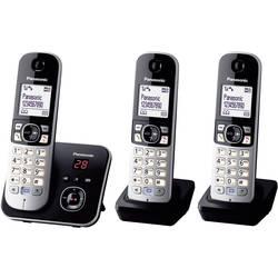 Bezdrôtový analógový telefón Panasonic KX-TG6823 Trio, čierna, strieborná