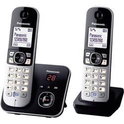 Bezdrôtový analógový telefón Panasonic KX-TG6822 Duo, čierna, strieborná