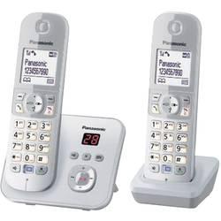 Bezdrôtový analógový telefón Panasonic KX-TG6822 Duo, strieborná, sivá