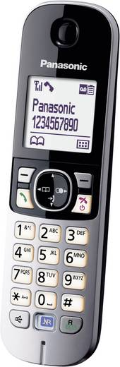 Schnurloses Telefon analog Panasonic KX-TG6821 Anrufbeantworter, Freisprechen Schwarz, Silber