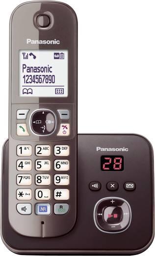 Schnurloses Telefon analog Panasonic KX-TG6821 Anrufbeantworter, Freisprechen Mocca
