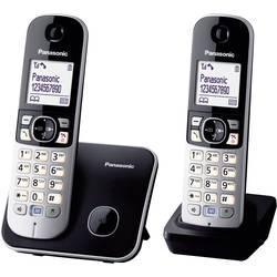 Bezdrôtový analógový telefón Panasonic KX-TG6812 Duo, čierna, strieborná
