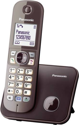Schnurloses Telefon analog Panasonic KX-TG6811 Freisprechen Mocca
