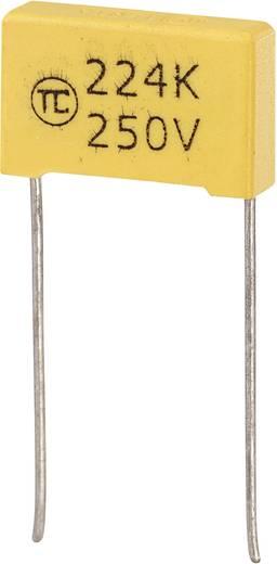 MKS-Folienkondensator radial bedrahtet 0.22 µF 250 V/DC 5 % 15 mm (L x B x H) 18 x 5 x 11 mm 1 St.