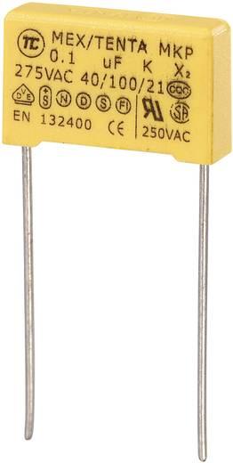 MKP-X2-Funkentstör-Kondensator radial bedrahtet 0.1 µF 275 V/AC 10 % 15 mm (L x B x H) 18 x 5 x 11 mm MKP-X2 1 St.