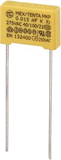MKP-X2 MKP-X2-Funkentstör-Kondensator radial bedrahtet 0.015 µF 275 V/AC 10 % 10 mm (L x B x H) 13 x 4 x 9 mm 1 St.