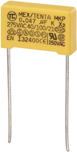 MKP-X2-Funkentstör-Kondensator radial bedrahtet 0.047 µF 275 V/AC 10 % 15 mm (L x B x H) 18 x 5 x 11 mm MKP-X2 1 St.