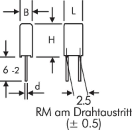 MKS-Folienkondensator radial bedrahtet 0.47 µF 63 V/DC 10 % 2.5 mm (L x B x H) 4.6 x 4.6 x 9 mm Wima MKS 02 0,47uF 10%