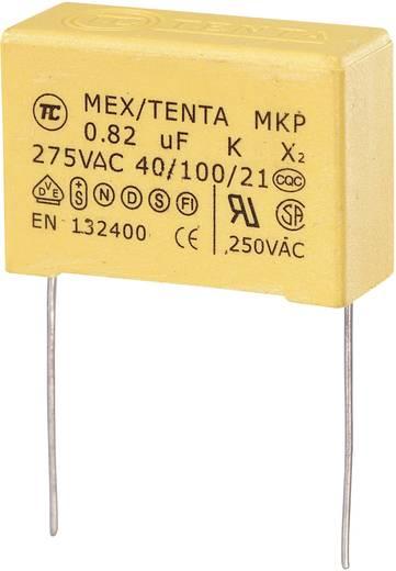 MKP-X2 MKP-X2-Funkentstör-Kondensator radial bedrahtet 0.82 µF 275 V/AC 10 % 27.5 mm (L x B x H) 32 x 13 x 23 mm 1 St.