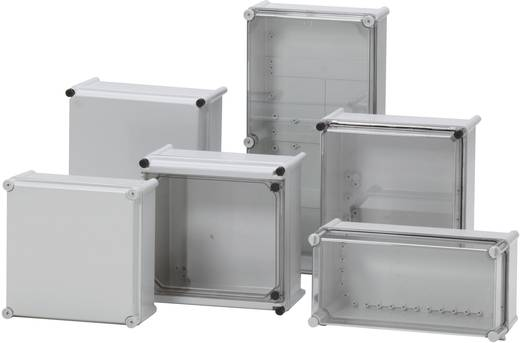 Installations-Gehäuse 278 x 278 x 130 Polycarbonat, Polyamid Licht-Grau (RAL 7035) Fibox PC 2828 13 G 1 St.