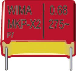 Condensateur polypropylène MKP 0.068 µF 630 V/DC Wima MKP1J026804D00JD00 5 % Pas: 15 mm (L x l x h) 18 x 7 x 14 mm 850