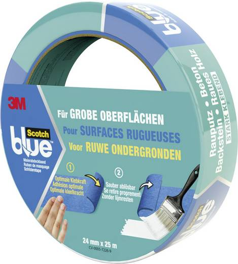 Abdeckband 3M ScotchBlue™ Blau (L x B) 25 m x 24 mm Inhalt: 1 Rolle(n)
