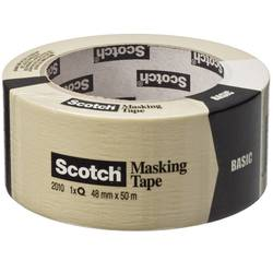 Image of 3M 20104850 7000059914 Abdeckband Scotch® Beige (L x B) 50 m x 48 mm 1 Rolle(n)