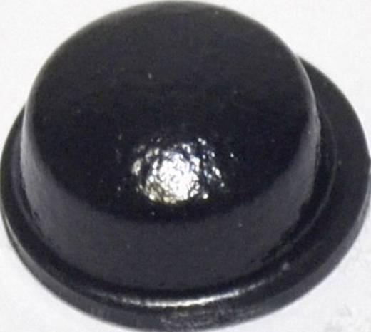 Gerätefuß selbstklebend, rund Schwarz (Ø x H) 11.1 mm x 5 mm TOOLCRAFT PD2115SW 1 St.