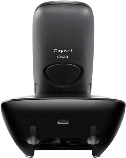 Schnurloses Telefon analog Gigaset C620 Headsetanschluss, Babyphone, Freisprechen Schwarz, Silber