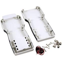 Plastová krabička Hammond Electronics 1553TGYBAT, 210 x 100 x 32 mm, ABS, sivá, 1 ks
