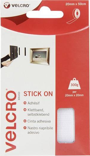Klettband zum Aufkleben Haft- und Flauschteil (L x B) 500 mm x 20 mm Weiß VELCRO® brand VEL-EC60224 0.5 m