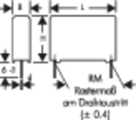 MKP-Folienkondensator radial bedrahtet 0.1 µF 630 V/DC 20 % 15 mm (L x B x H) 18 x 7 x 14 mm Wima MKP4J031004D00KSSD 1