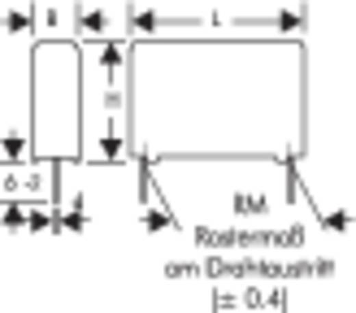 MKP-Folienkondensator radial bedrahtet 4700 pF 1600 V/DC 20 % 10 mm (L x B x H) 13 x 5 x 11 mm Wima MKP1T014703F00KSSD
