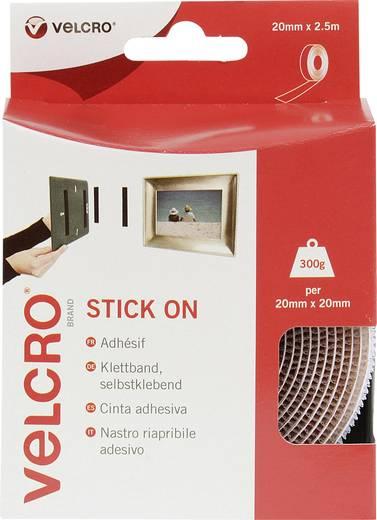 Klettband zum Aufkleben Haft- und Flauschteil (L x B) 2500 mm x 20 mm Weiß VELCRO® brand VEL-EC60214 2.5 m