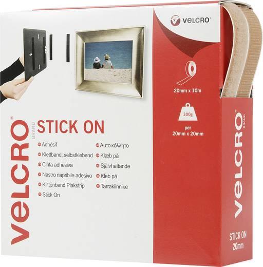 Klettband zum Aufkleben Haft- und Flauschteil (L x B) 10000 mm x 20 mm Beige VELCRO® brand VEL-EC60221 10 m