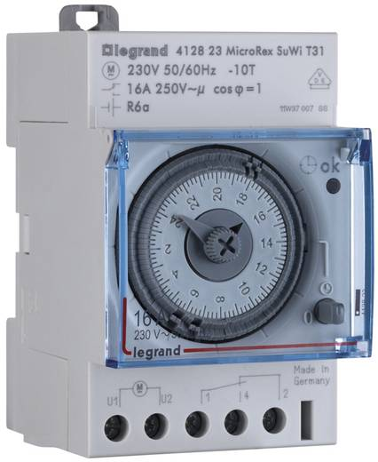 Hutschienen-Zeitschaltuhr analog Legrand 412823 230 V 16 A/250 V