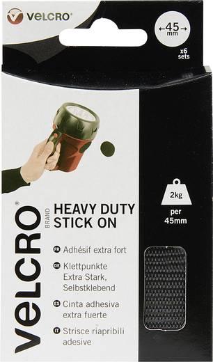 Klettpunkte zum Aufkleben Haft- und Flauschteil, extrastark (Ø) 45 mm Schwarz VELCRO® brand VEL-EC60248 6 Paar