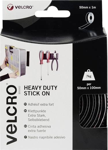 Klettband zum Aufkleben Haft- und Flauschteil, extrastark (L x B) 1000 mm x 50 mm Schwarz VELCRO® brand VEL-EC60241 1 m