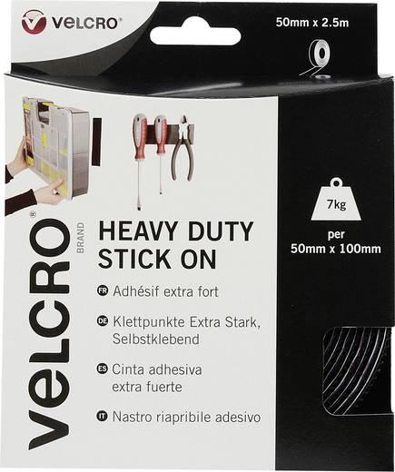 Klettband zum Aufkleben Haft- und Flauschteil, extrastark (L x B) 2500 mm x 50 mm Schwarz VELCRO® brand VEL-EC60245 2.5