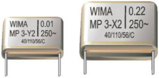 Entstör-Kondensator X2 radial bedrahtet 0.1 µF 250 V/AC 20 % Wima MPX20W3100FG00MSSD 1 St.