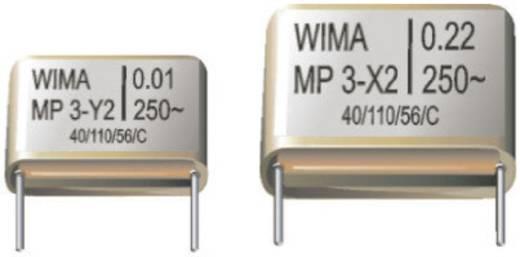 Entstör-Kondensator X2 radial bedrahtet 0.22 µF 250 V/AC 20 % Wima MPX20W3220FI00MSSD 1 St.