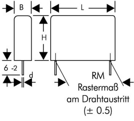 Entstör-Kondensator X2 radial bedrahtet 0.47 µF 275 V/AC 20 % Wima MPX21W3470FK00MSSD 1 St.