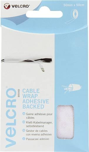 Klett-Kabelmanager zum Aufkleben Haft- und Flauschteil (L x B) 500 mm x 50 mm Weiß VELCRO® brand VEL-EC60392 1 St.