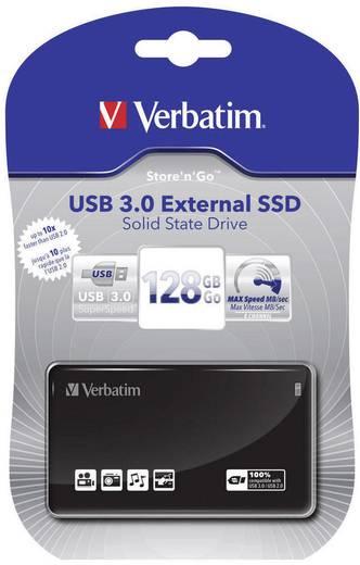 Externe SSD-Festplatte 6.35 cm (2.5 Zoll) 128 GB Verbatim Externe Schwarz USB 3.0