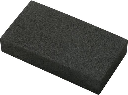 Moosgummiblock selbstklebend EVA Schwarz (L x B x H) 95 x 49 x 19 mm Basetech EVA9550H20 1 St.