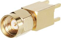 Connecteur SMA à polarité inversée embase mâle verticale pour circuits imprimés TRU COMPONENTS 1579516 1 pc(s)
