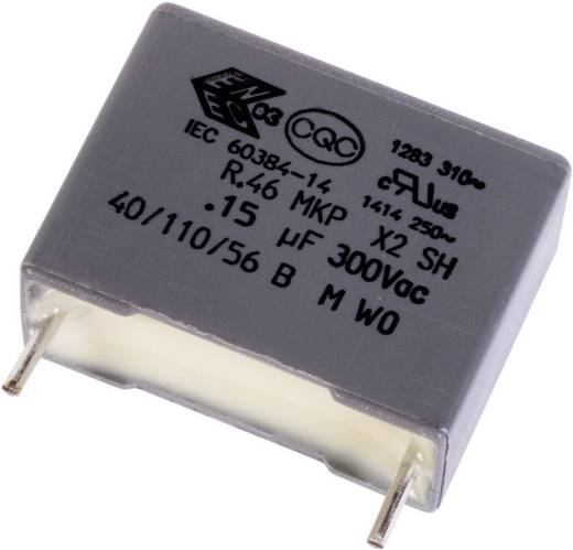MKP-Folienkondensator radial bedrahtet 0.1 µF 10 % 10 mm Kemet X2 46K 1 St.