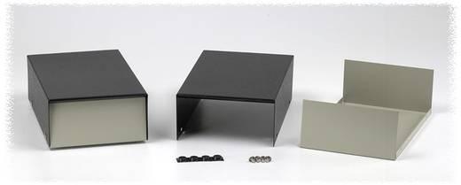 Instrumenten-Gehäuse 127 x 254 x 89 Stahl Grau, Schwarz Hammond Electronics 1454P 1 St.