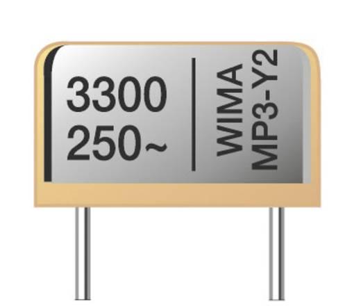 Funk Entstör-Kondensator MP3-Y2 radial bedrahtet 1500 pF 250 V/AC 20 % 10 mm (L x B x H) 13.5 x 4 x 8.5 mm Wima MP 3 Y2
