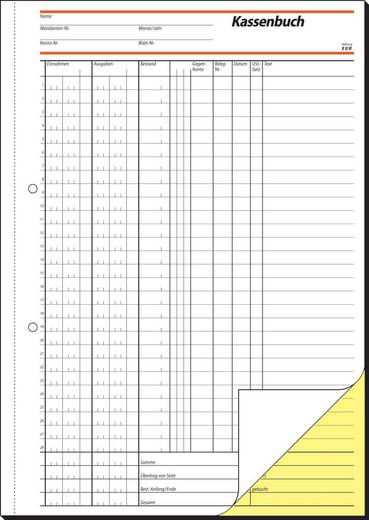 sigel Kassenbuch, EDV/SD056, weiß+gelb, SD, A4 hoch, Inh. 2 x 40 Blatt