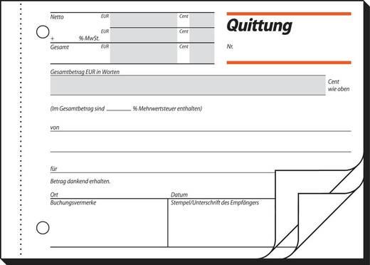 sigel Quittung/QU635, weiß+weiß, mit Blaupapier, A6quer, Inh. 3 x 50 Blatt